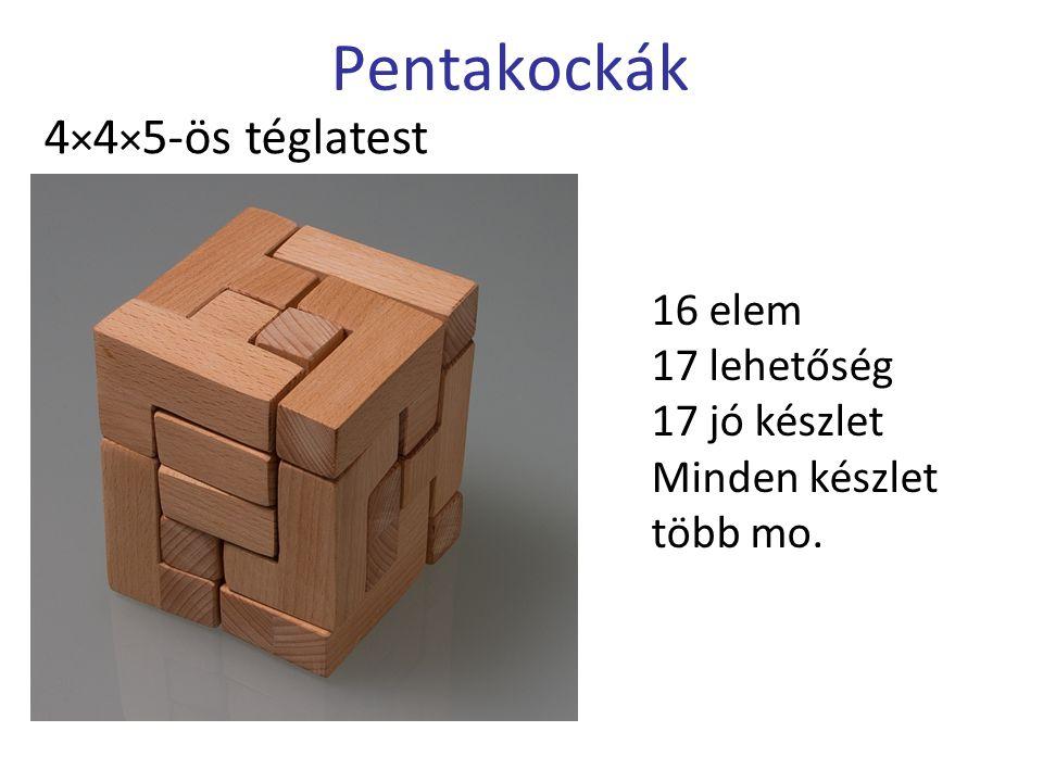 Pentakockák 4×4×5-ös téglatest