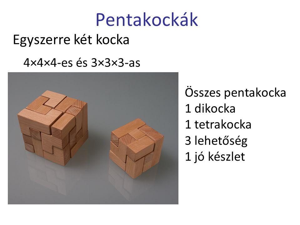 Pentakockák Egyszerre két kocka 4×4×4-es és 3×3×3-as