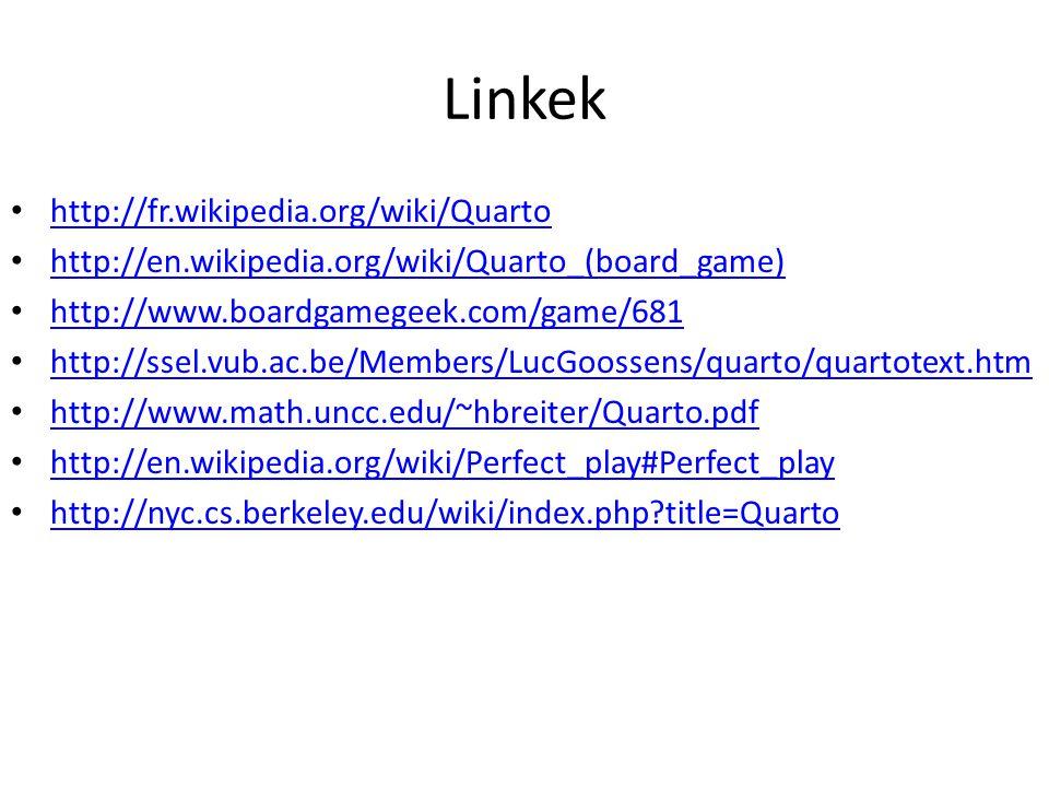 Linkek http://fr.wikipedia.org/wiki/Quarto
