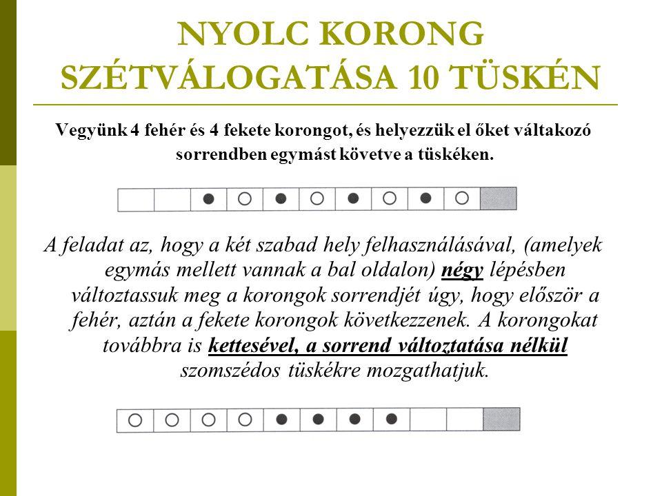 NYOLC KORONG SZÉTVÁLOGATÁSA 10 TÜSKÉN