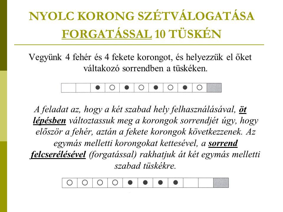 NYOLC KORONG SZÉTVÁLOGATÁSA FORGATÁSSAL 10 TÜSKÉN