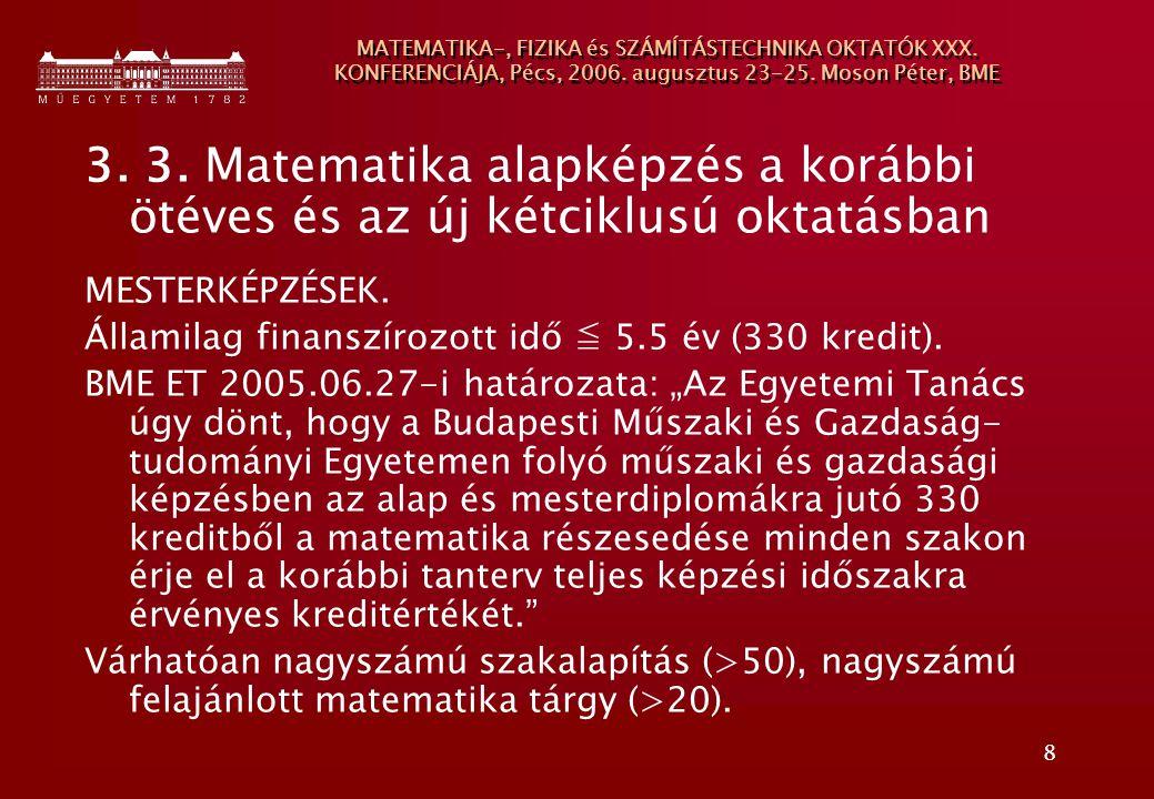 MATEMATIKA-, FIZIKA és SZÁMÍTÁSTECHNIKA OKTATÓK XXX