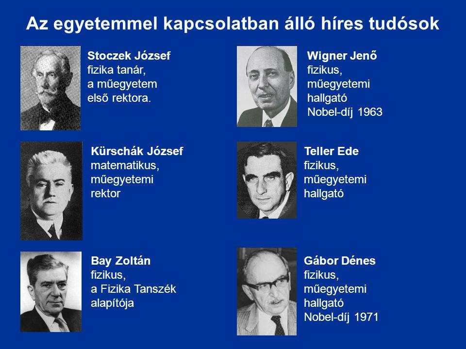 Az egyetemmel kapcsolatban álló híres tudósok