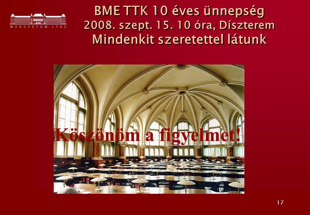 BME TTK 10 éves ünnepség 2008. szept. 15