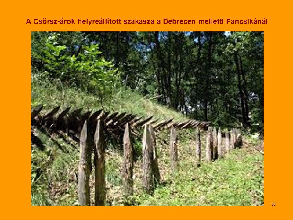 A Csörsz-árok helyreállított szakasza a Debrecen melletti Fancsikánál