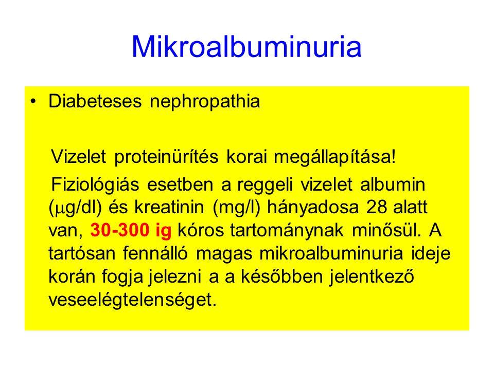 Mikroalbuminuria Diabeteses nephropathia