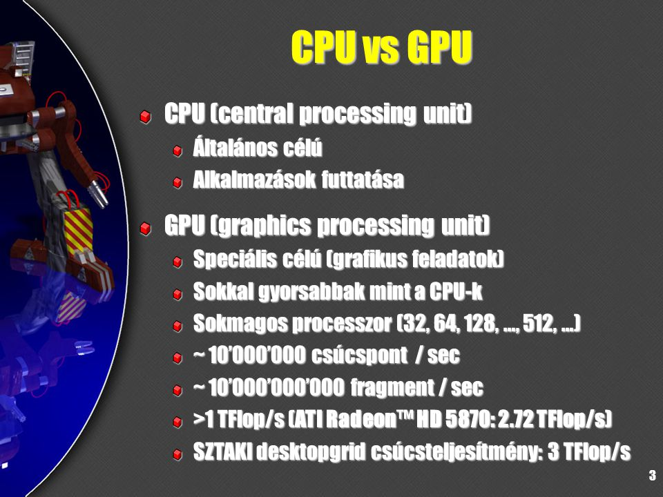 CPU vs GPU CPU (central processing unit)