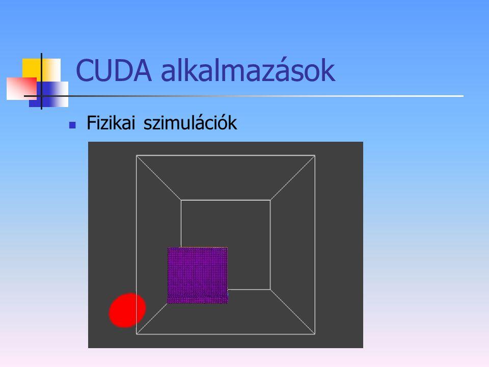 CUDA alkalmazások Fizikai szimulációk