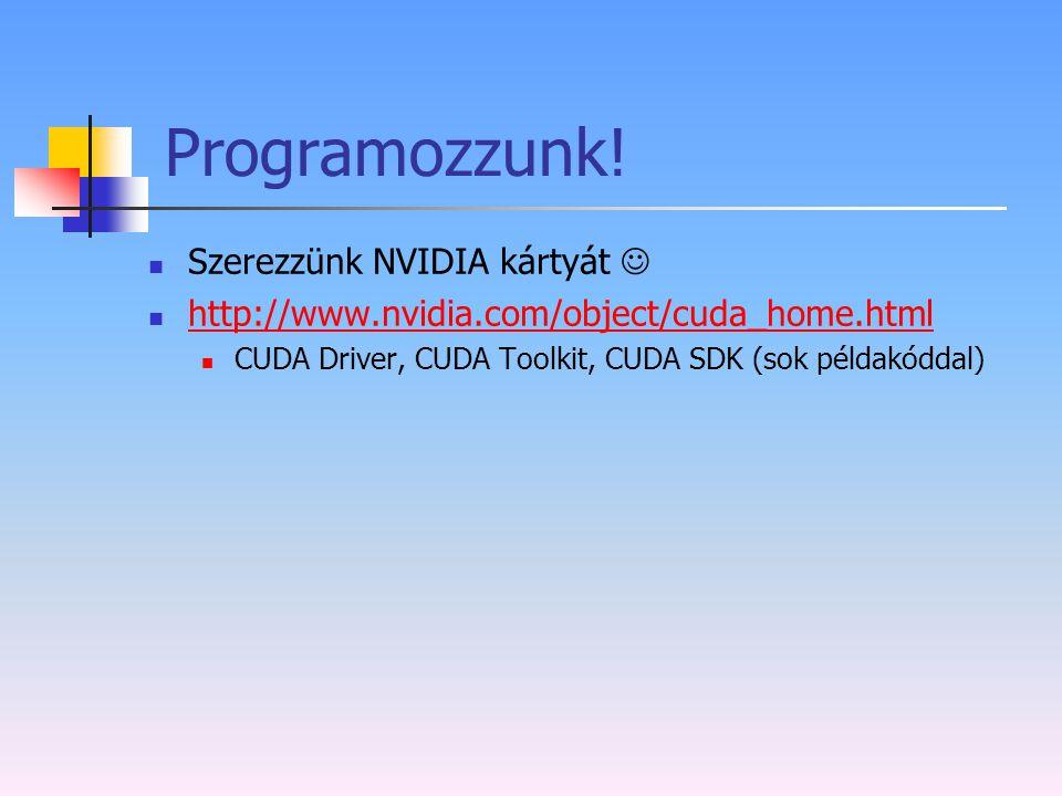 Programozzunk! Szerezzünk NVIDIA kártyát 
