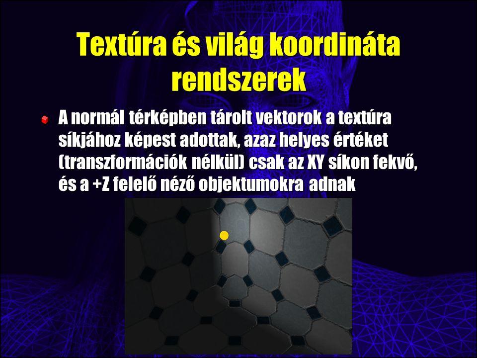 Textúra és világ koordináta rendszerek