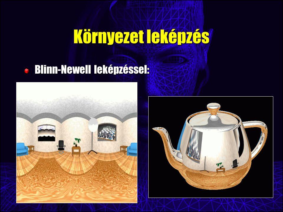Környezet leképzés Blinn-Newell leképzéssel:
