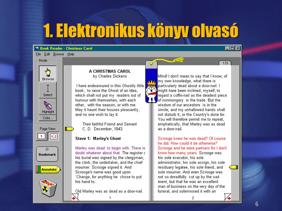 1. Elektronikus könyv olvasó