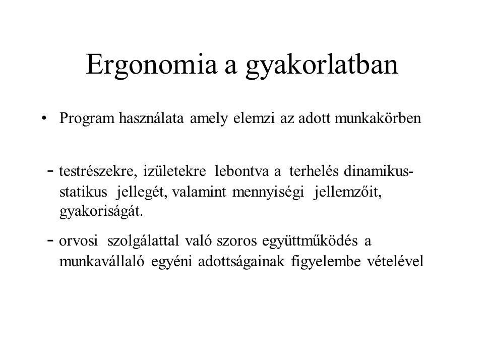 Ergonomia a gyakorlatban