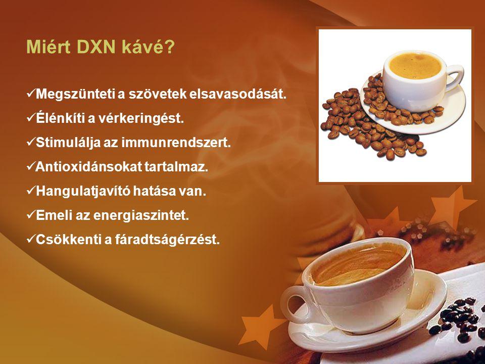 Miért DXN kávé Megszünteti a szövetek elsavasodását.