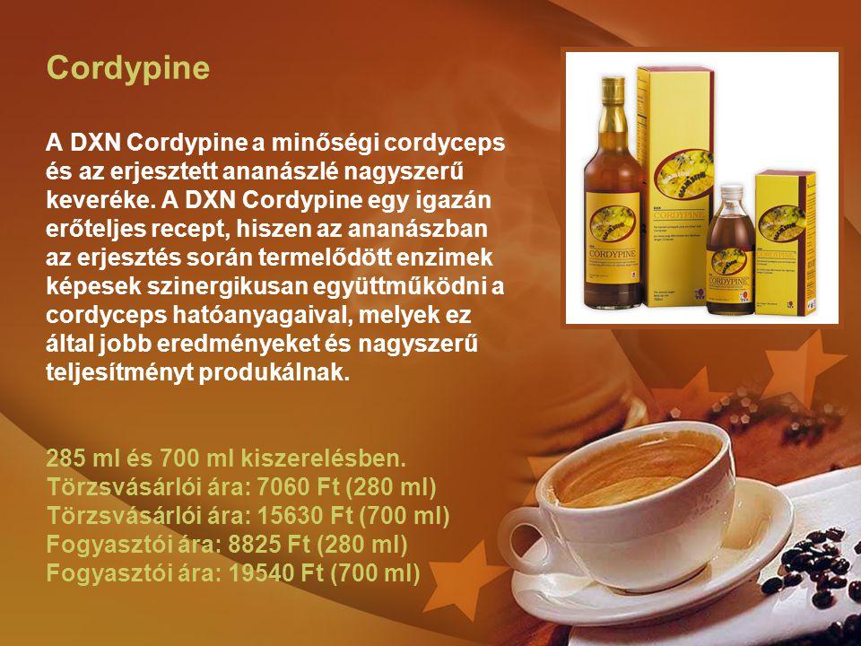 Cordypine A DXN Cordypine a minőségi cordyceps és az erjesztett ananászlé nagyszerű keveréke.