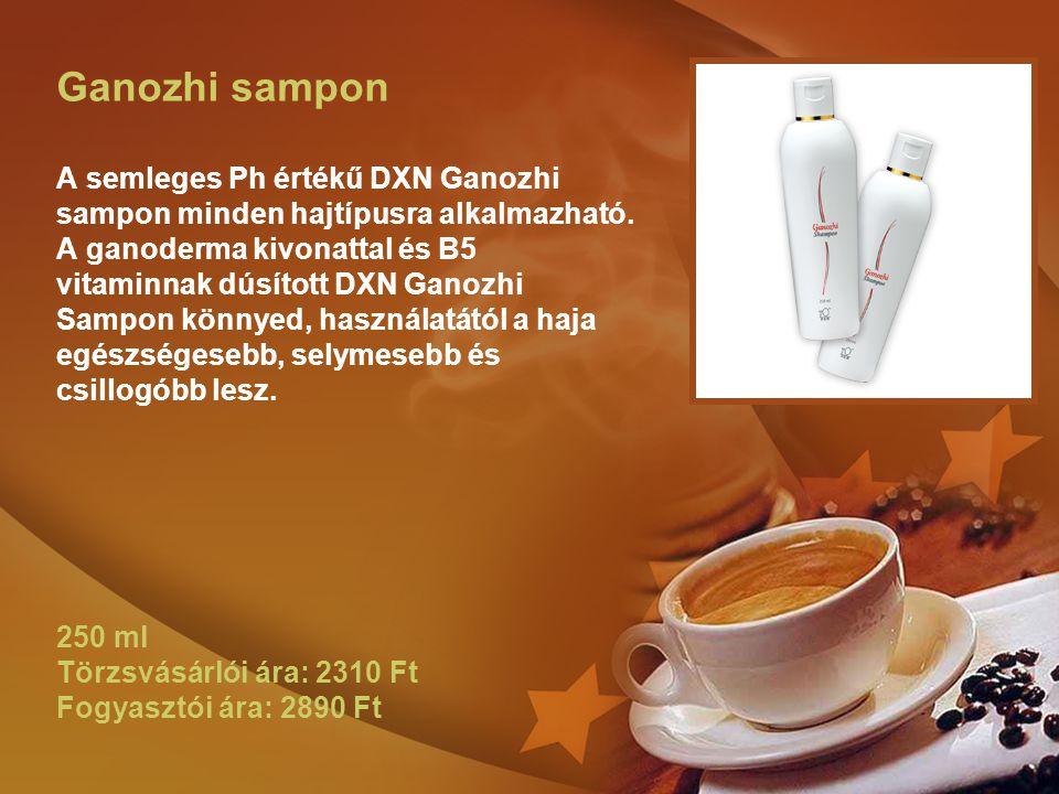 Ganozhi sampon A semleges Ph értékű DXN Ganozhi sampon minden hajtípusra alkalmazható.