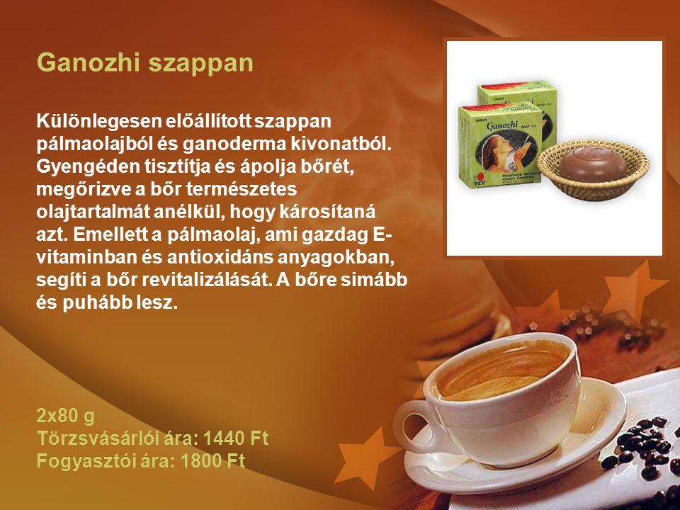 Ganozhi szappan Különlegesen előállított szappan pálmaolajból és ganoderma kivonatból.