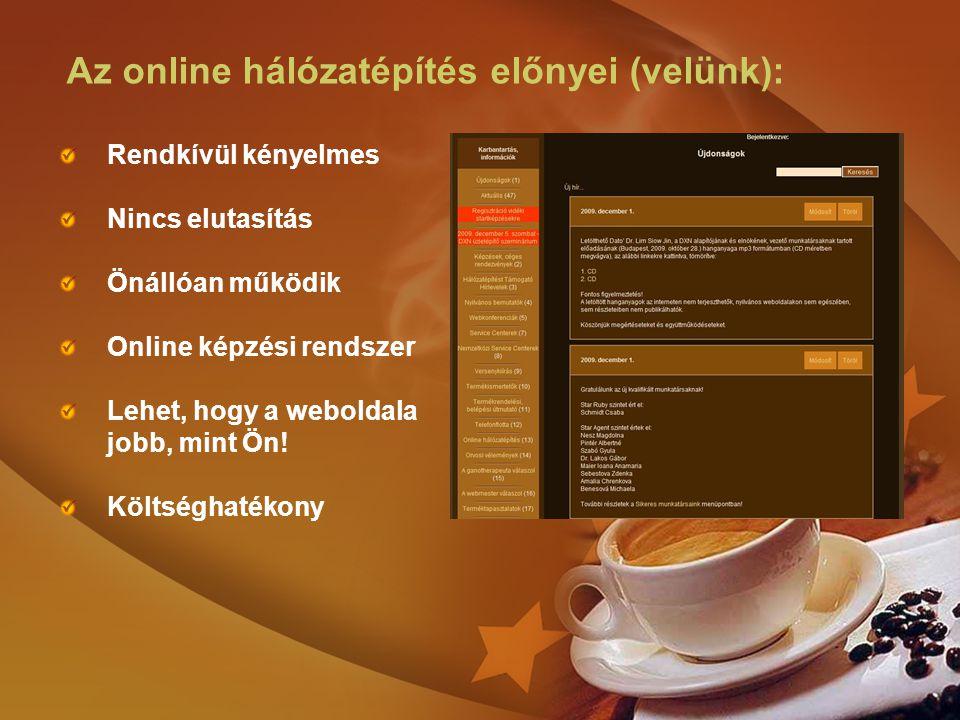 Az online hálózatépítés előnyei (velünk):