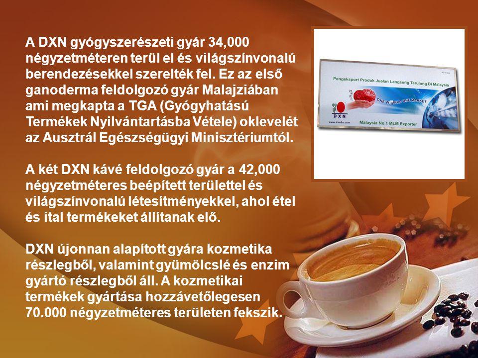 A DXN gyógyszerészeti gyár 34,000 négyzetméteren terül el és világszínvonalú berendezésekkel szerelték fel.