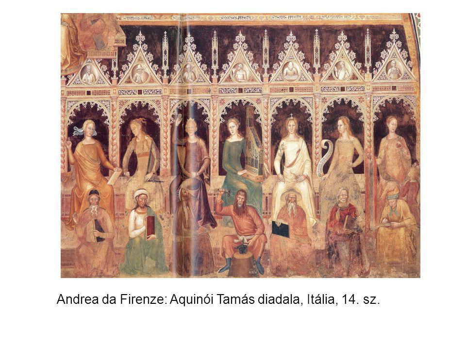 Andrea da Firenze: Aquinói Tamás diadala, Itália, 14. sz.