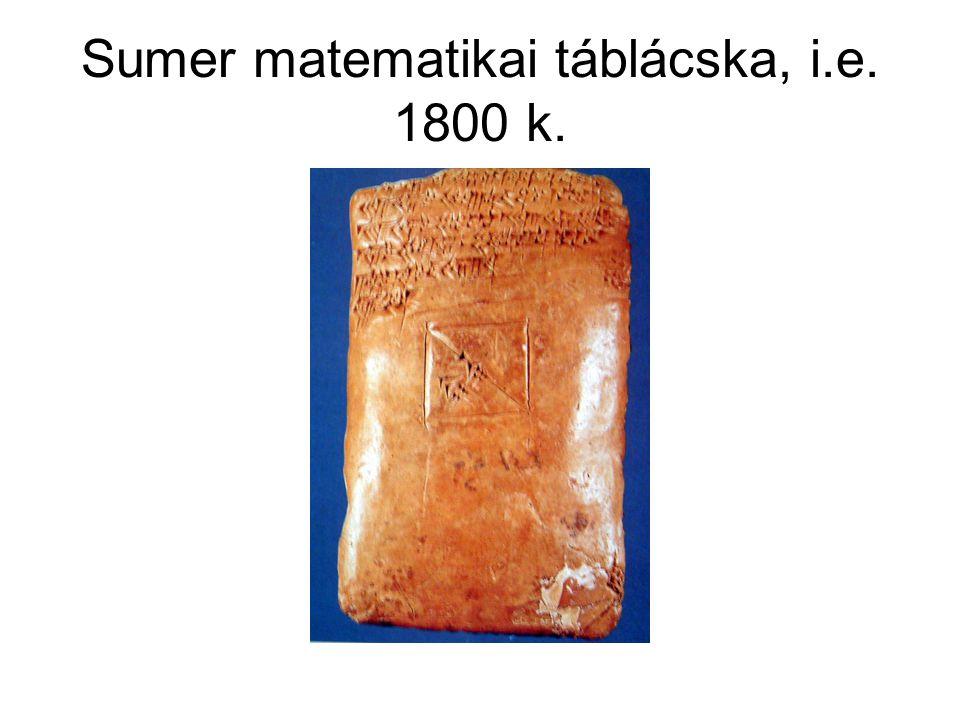 Sumer matematikai táblácska, i.e. 1800 k.