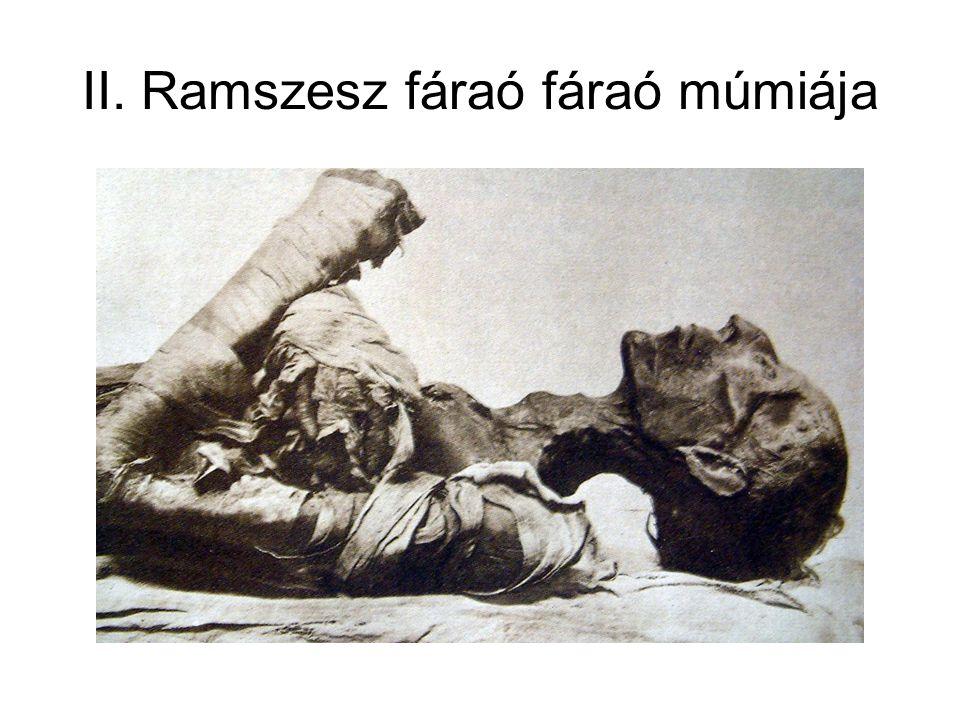 II. Ramszesz fáraó fáraó múmiája