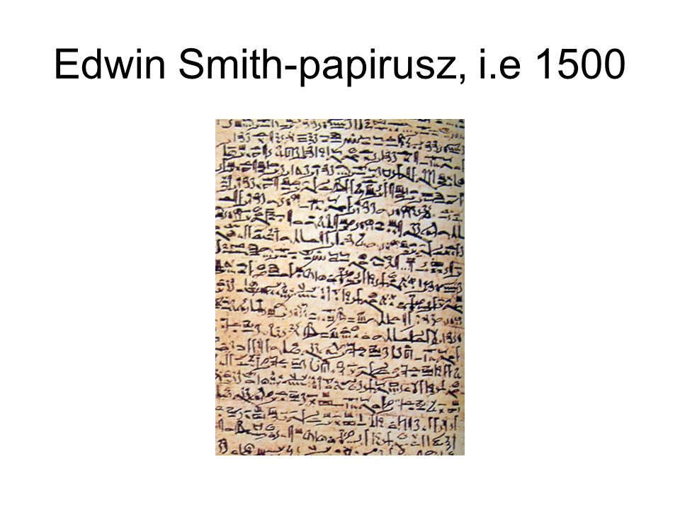 Edwin Smith-papirusz, i.e 1500