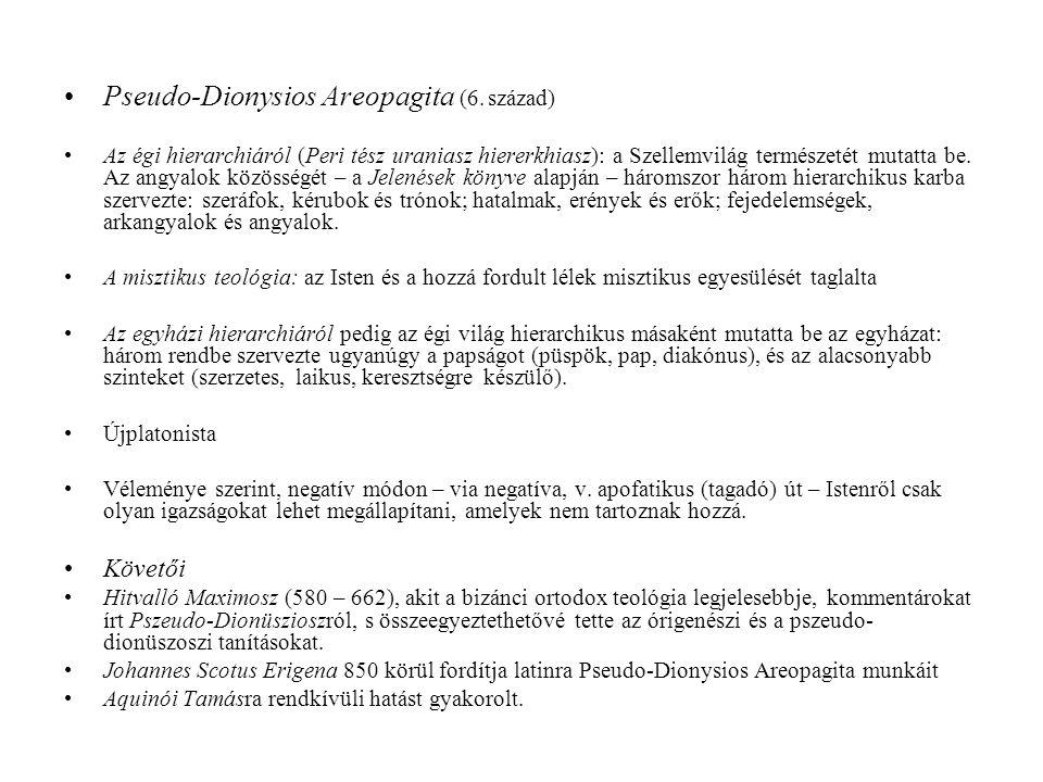 Pseudo-Dionysios Areopagita (6. század)