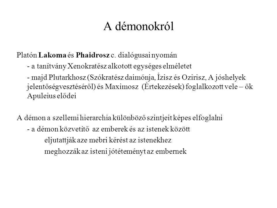 A démonokról Platón Lakoma és Phaidrosz c. dialógusai nyomán