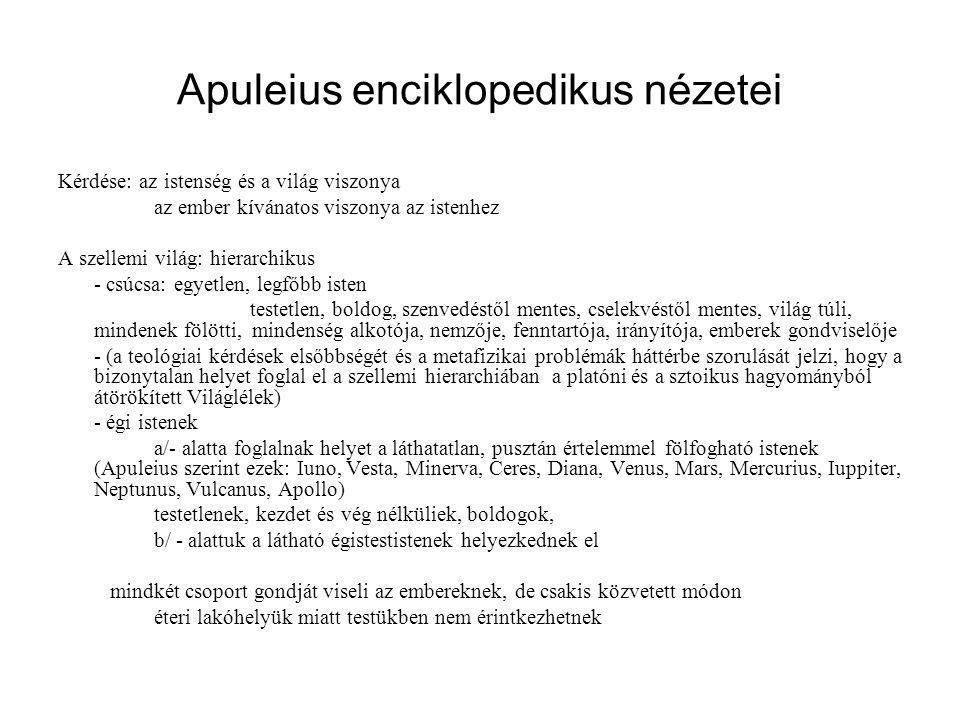 Apuleius enciklopedikus nézetei