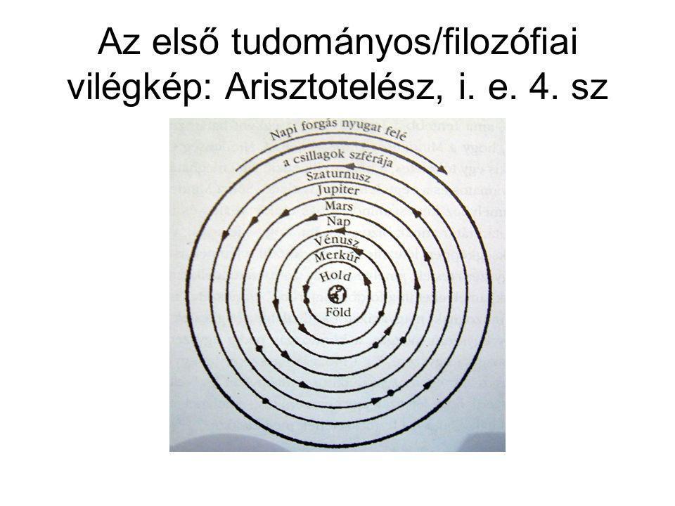 Az első tudományos/filozófiai vilégkép: Arisztotelész, i. e. 4. sz