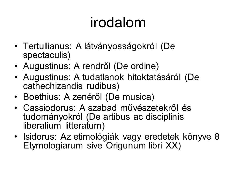 irodalom Tertullianus: A látványosságokról (De spectaculis)