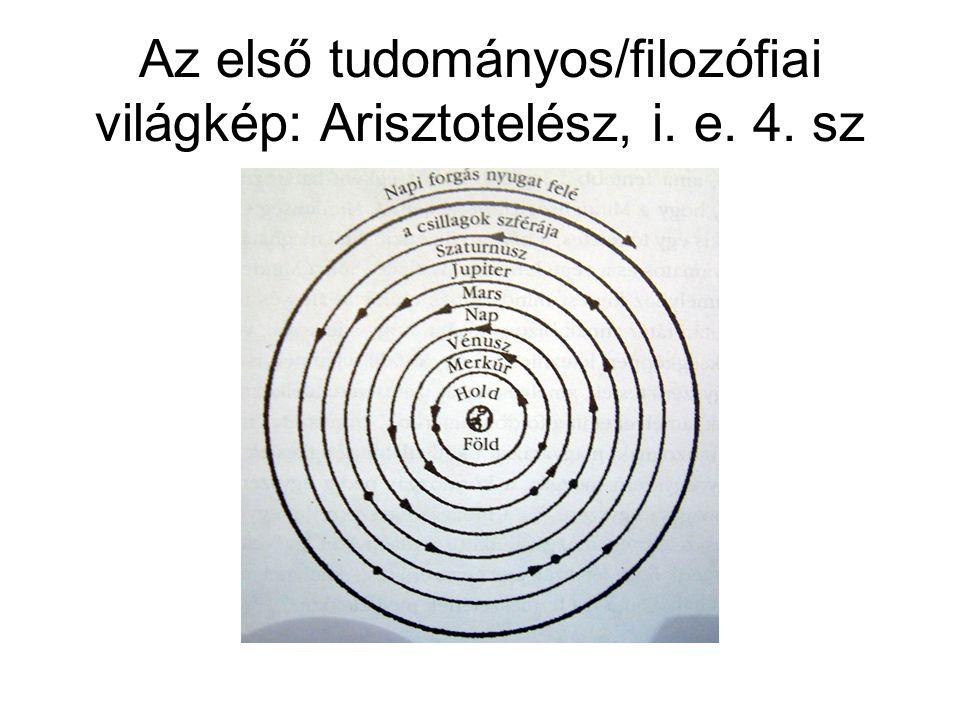 Az első tudományos/filozófiai világkép: Arisztotelész, i. e. 4. sz