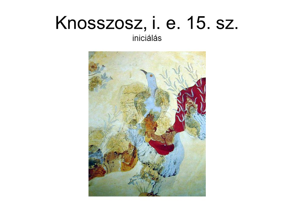 Knosszosz, i. e. 15. sz. iniciálás