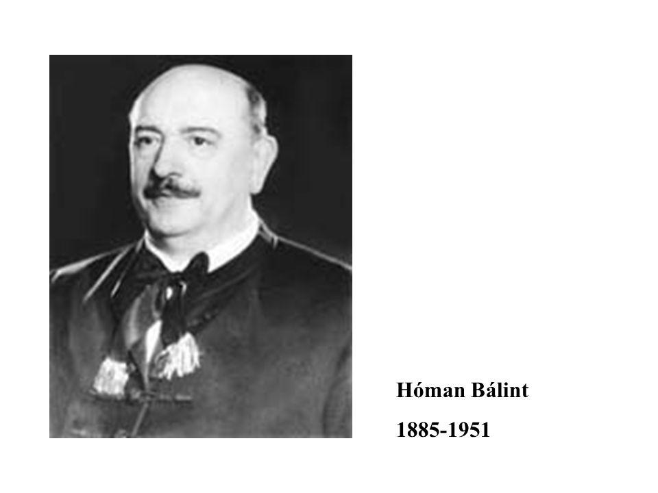 Hóman Bálint 1885-1951