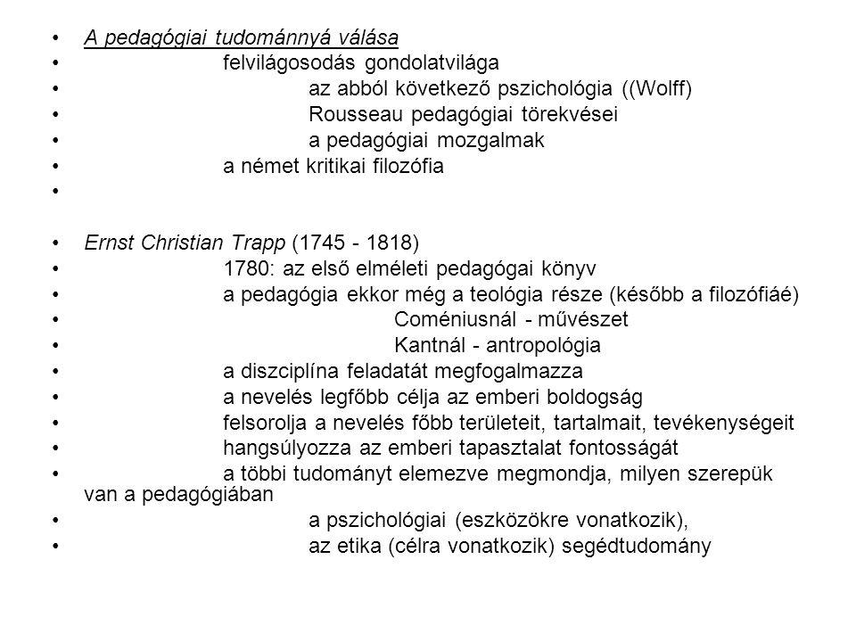 A pedagógiai tudománnyá válása