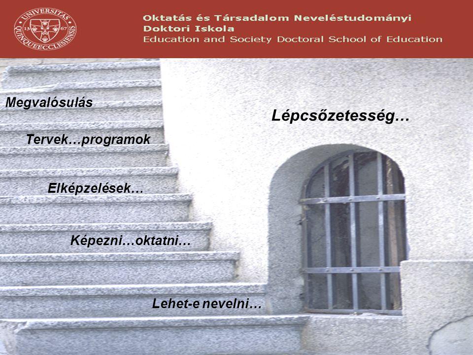 Lépcsőzetesség… Megvalósulás Tervek…programok Elképzelések…