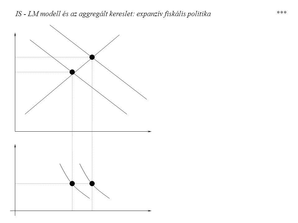IS - LM modell és az aggregált kereslet: expanzív fiskális politika