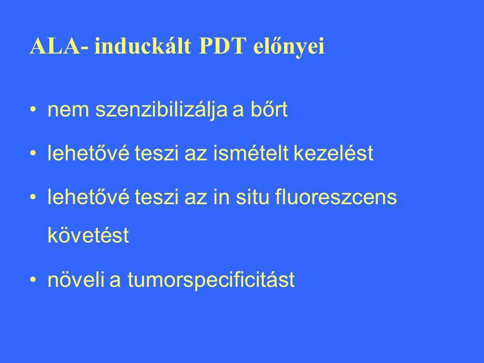 ALA- induckált PDT előnyei