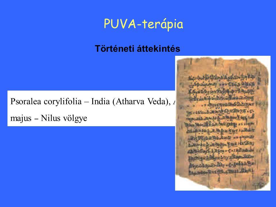PUVA-terápia Történeti áttekintés