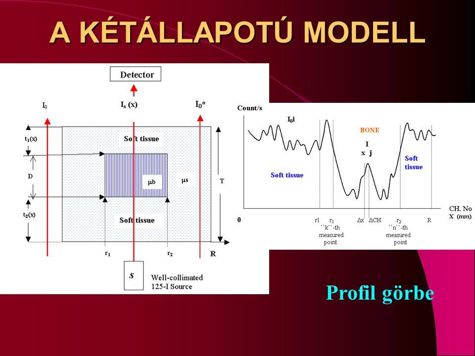 A KÉTÁLLAPOTÚ MODELL Profil görbe