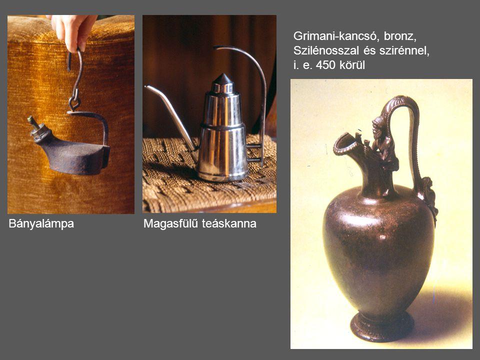 Grimani-kancsó, bronz, Szilénosszal és szirénnel,