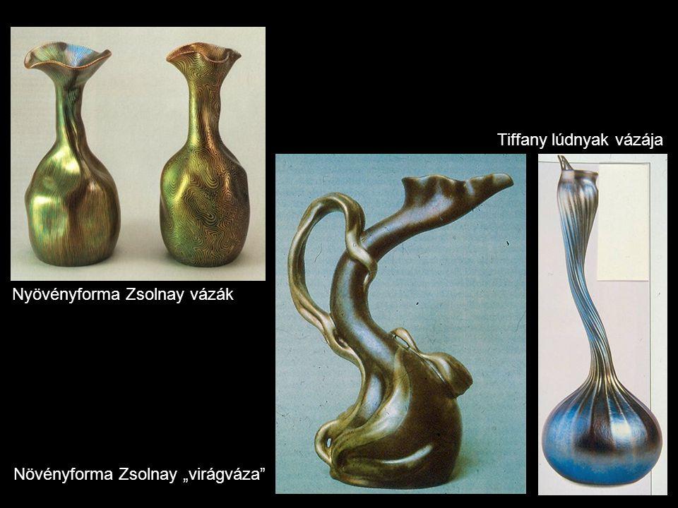 Tiffany lúdnyak vázája