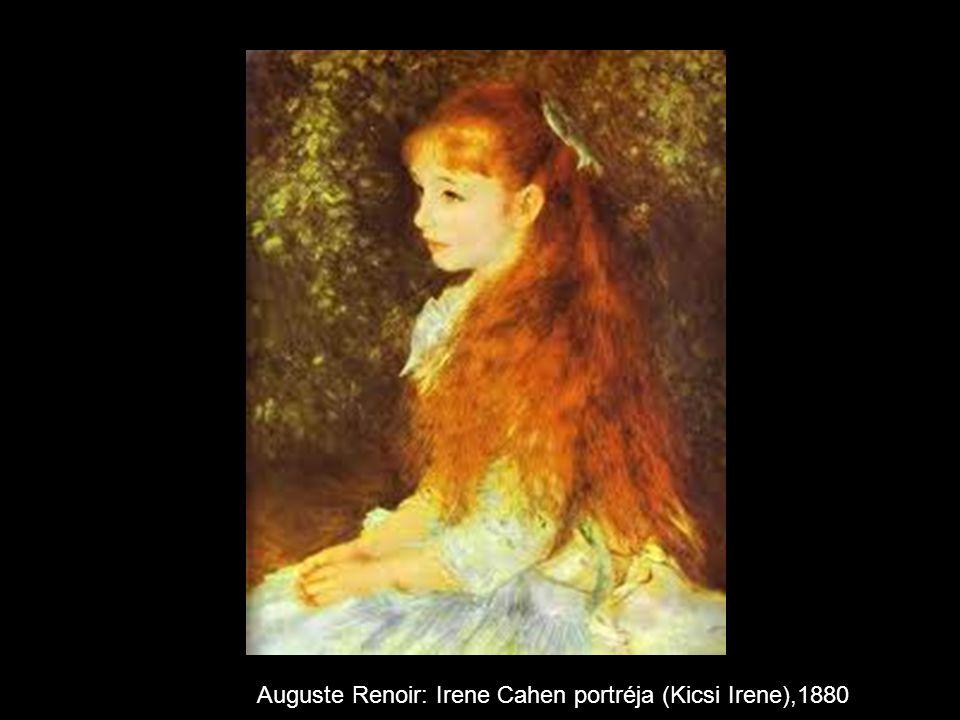Auguste Renoir: Irene Cahen portréja (Kicsi Irene),1880
