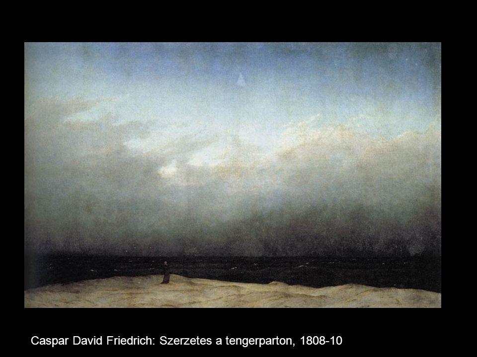 Caspar David Friedrich: Szerzetes a tengerparton, 1808-10: