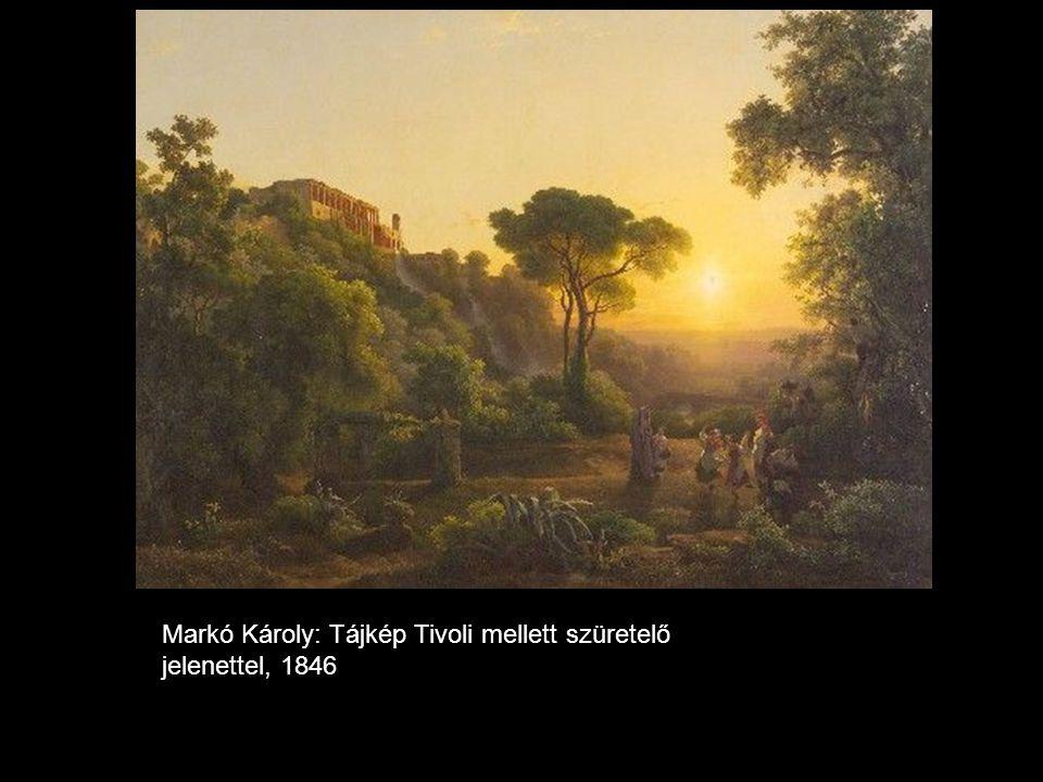 Markó Károly: Tájkép Tivoli mellett szüretelő jelenettel