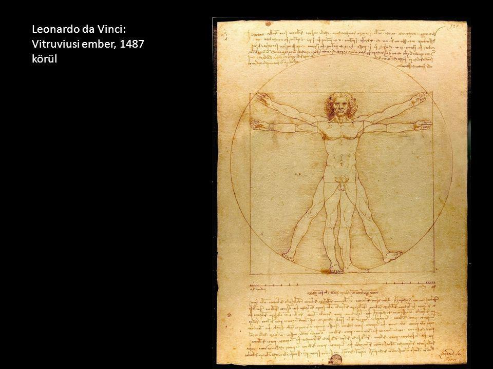 Leonardo da Vinci: Vitruviusi ember, 1487 körül