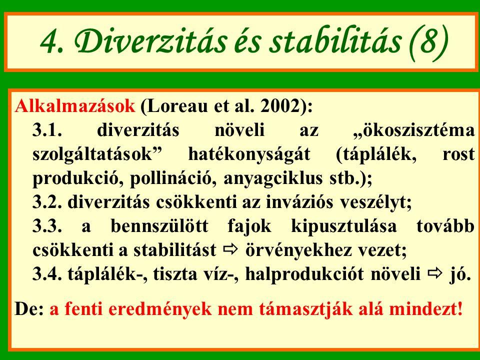4. Diverzitás és stabilitás (8)