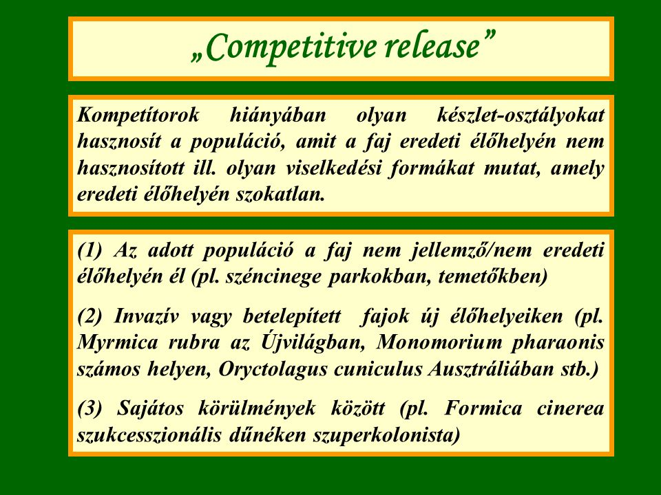 """""""Competitive release"""