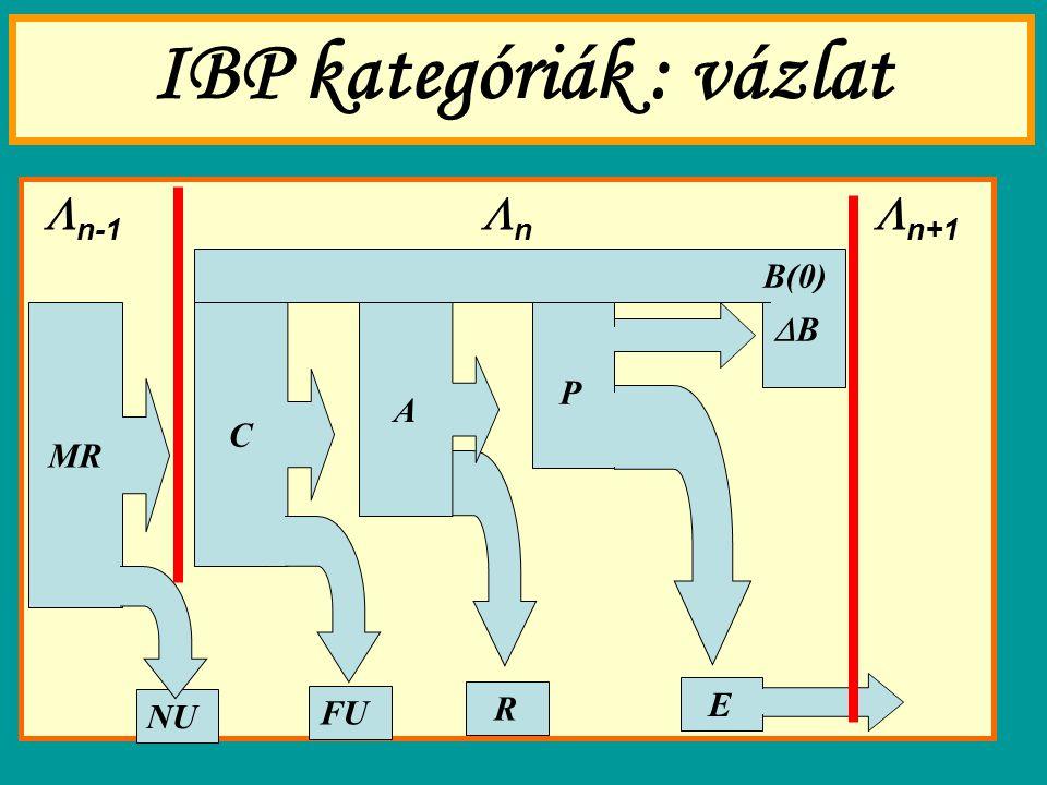 IBP kategóriák : vázlat